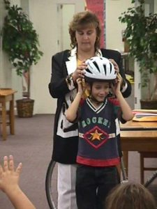 Properly fitted bicycle-helmets protect against brain injuries