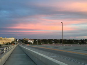 Enhancing beach access, bridge, sunset