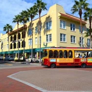 Jolley Trolley at Main Street and Bayshore Drive, Safety Harbor