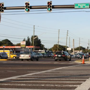 Part of the Drew Street corridor that would be addressed by Clearwater's complete streets project. (Photo courtesy of City of Clearwater)