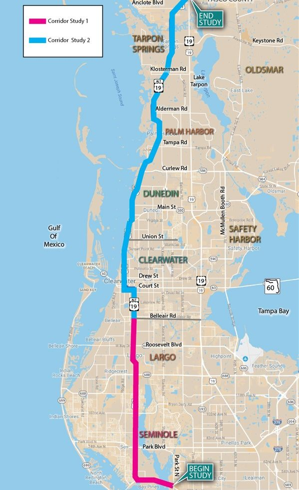 Forward Pinellas - Map alt us 19 pinellas county