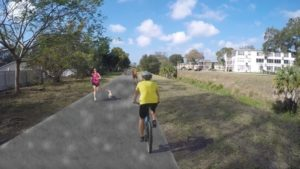 Rendering of Joe's Creek Greenway Trail.