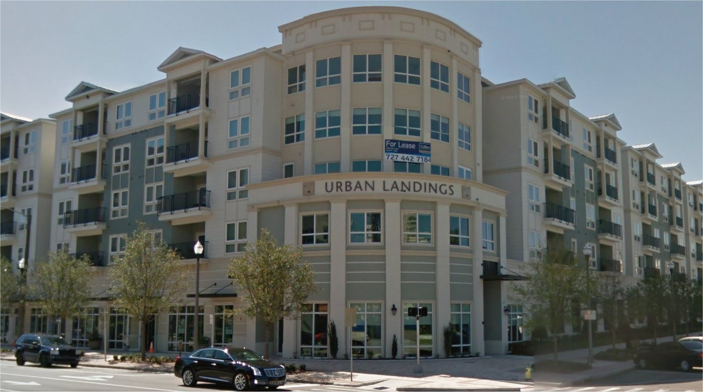 This new apartment building in downtown St. Petersburg exhibits several of the Planning & Urban Design Principles of the Countywide Plan.