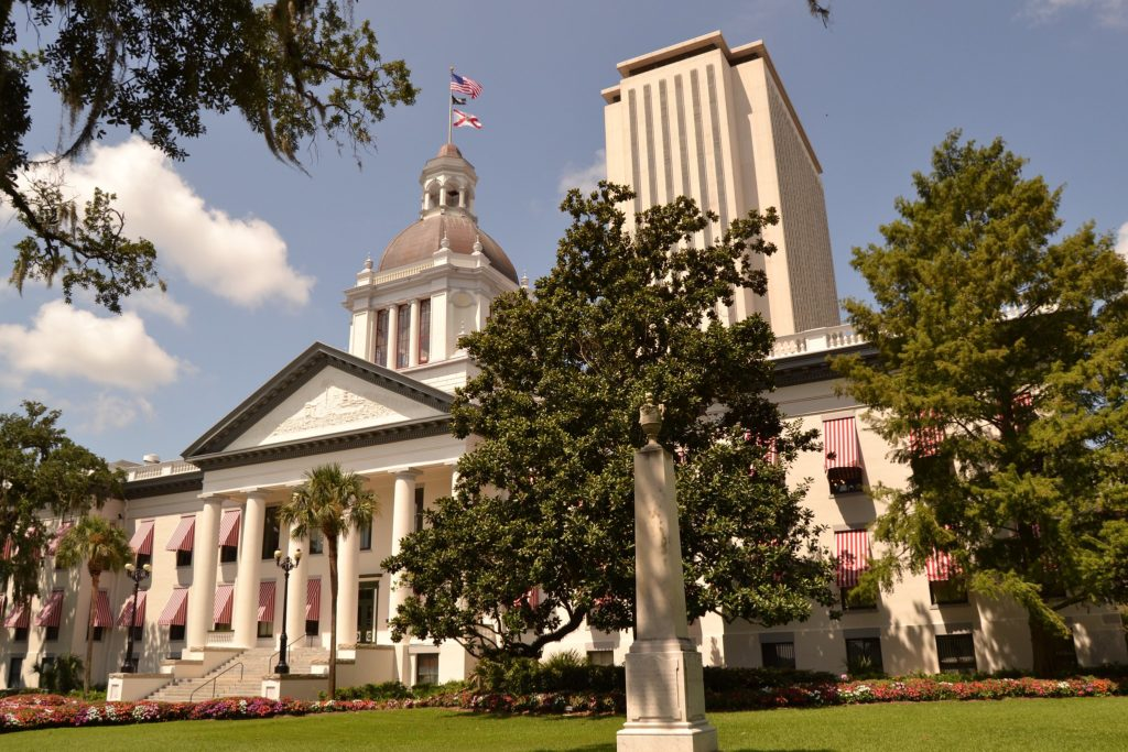 Image of Florida State Capitol, Tallahassee, Florida. Photo by Artie White, 2013. https://www.flickr.com/photos/artiewhite/17249458362/