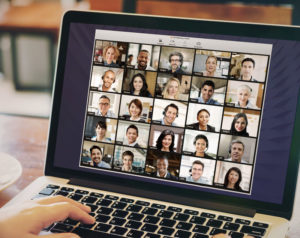 image of people videoconferencing