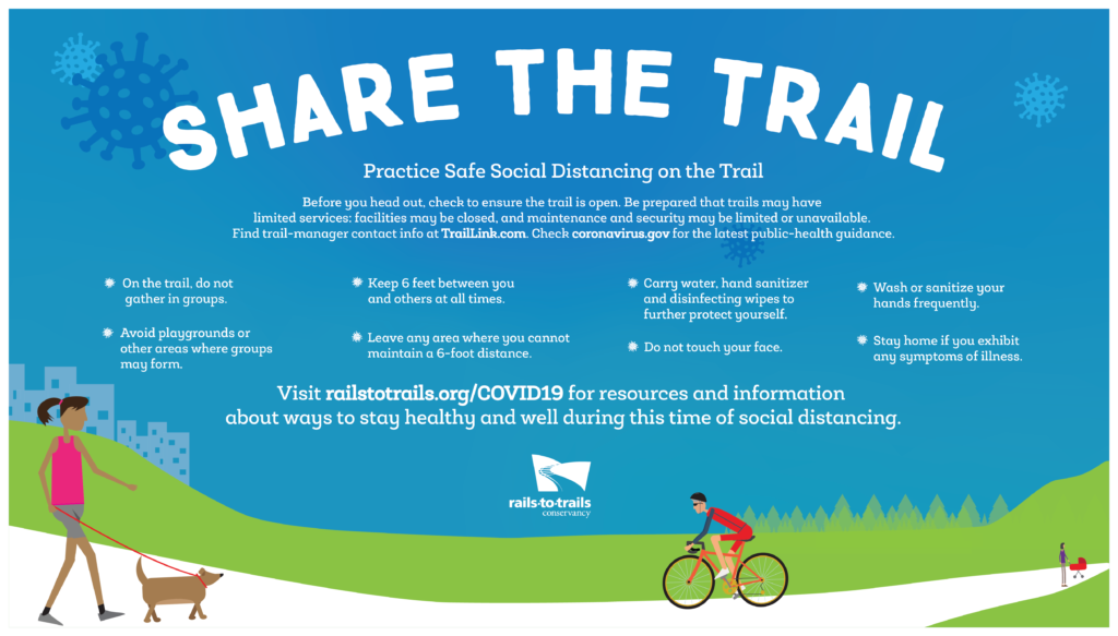 Tips for sharing the trail safely graphic