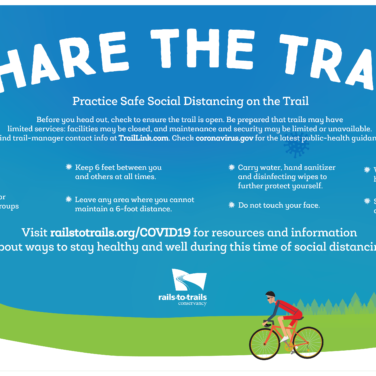 Share the trail graphic