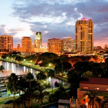 downtown st pete sunset