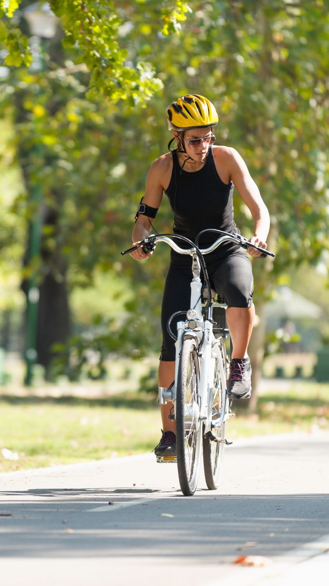 woman riding an ebike