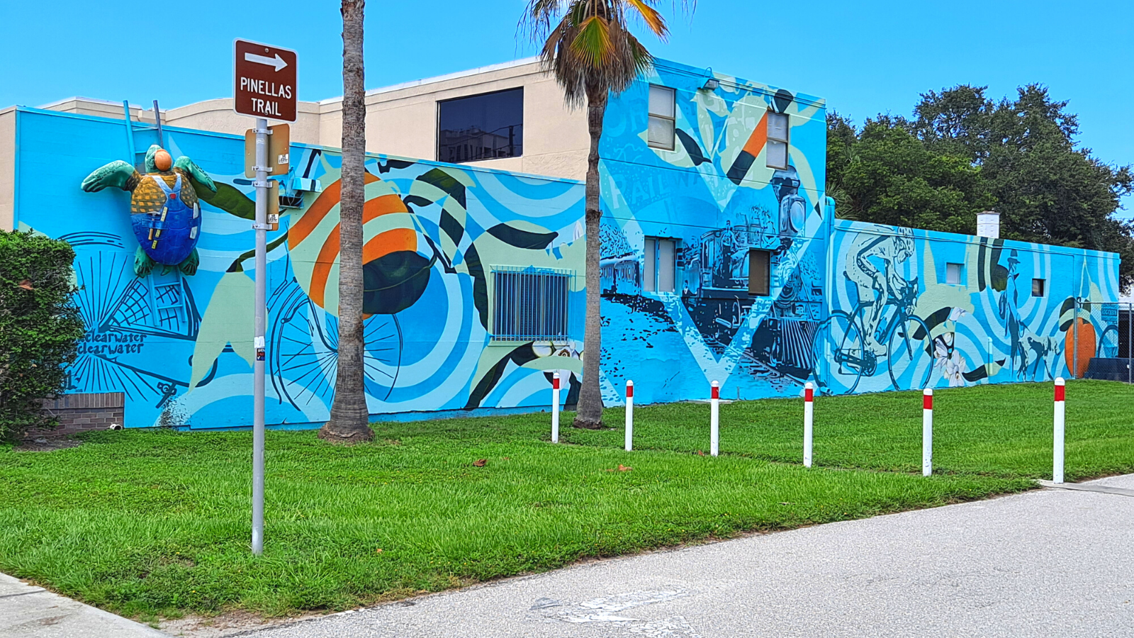 Pinellas Trail Mural and counters