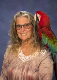Bonnie Noble and parrot