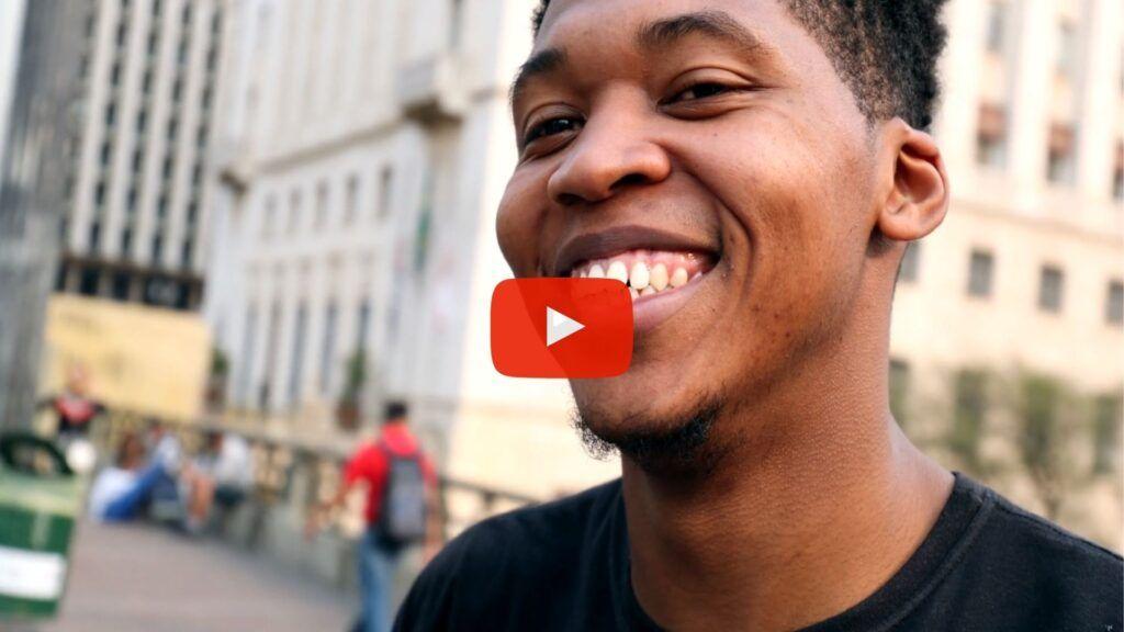 video of man smiling